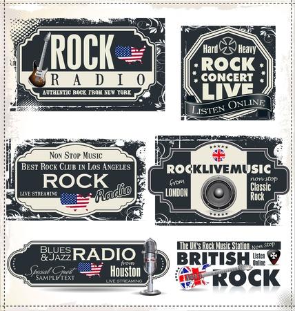 musica electronica: M�sica rock etiquetas de emisoras de radio