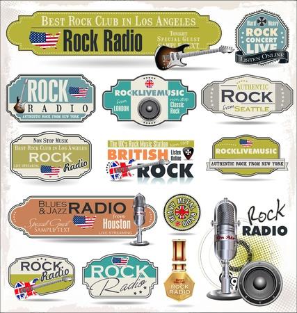 航空ショー: ロック音楽ラジオ測点ラベル