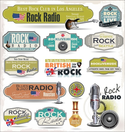 vocal: Rock music radio station labels