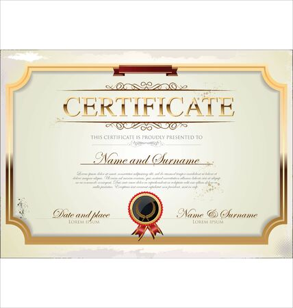 completion: Certificate template Illustration
