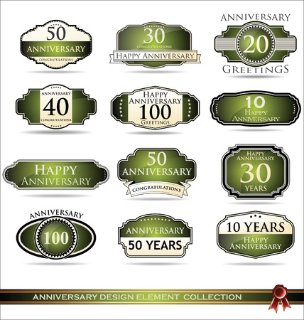 Anniversary design label