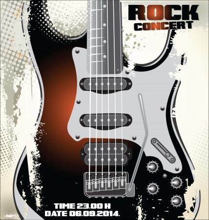 rock concert: Cartel del concierto de rock Vectores