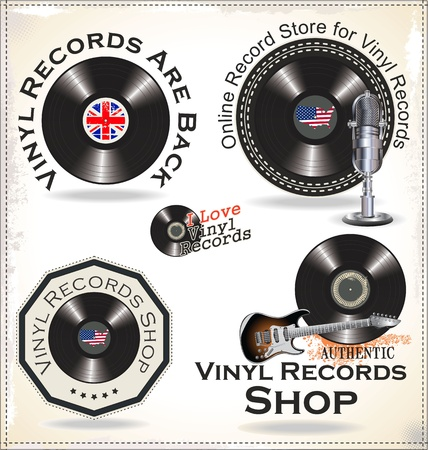 vynil: Vinyl records labels
