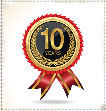 10 years: Anniversary golden label