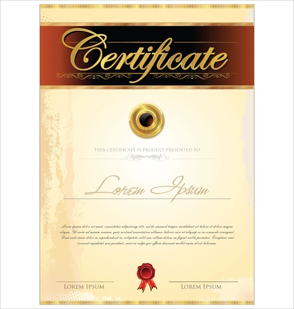template frame: Certificate template Illustration