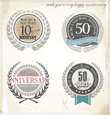 remembered: Anniversary design element collection  Illustration