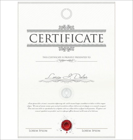 formal blue: Certificate template Illustration