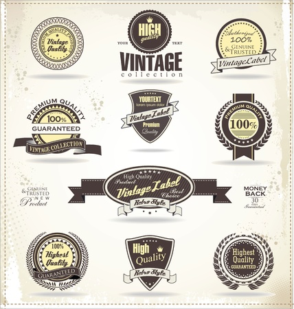 Premium quality labels Stock Vector - 21003155