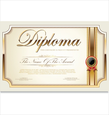 diploma: Certificate template Illustration