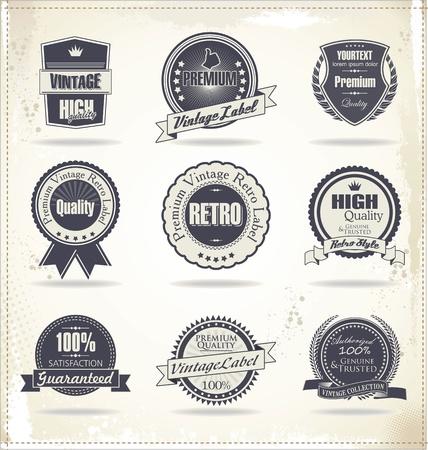 guarantee seal: Etiquetas de calidad Premium Vectores