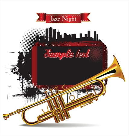 Jazz night background Stock Vector - 21003173