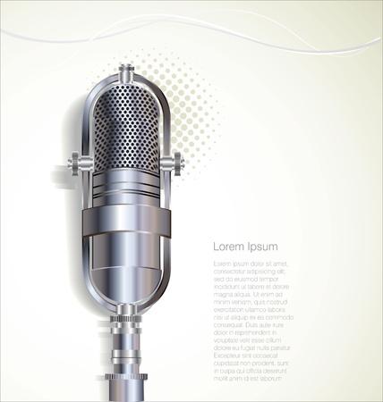 microfono radio: Micr?fono retro Vectores