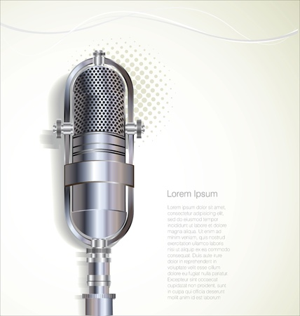 singer with microphone: Retro microphone