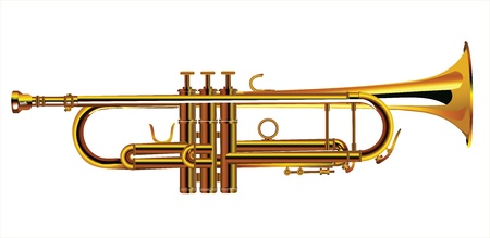 trumpet vector: Trumpet, vector illustration