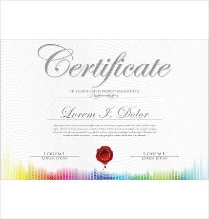 certificate background: Colorful Certificate template Illustration