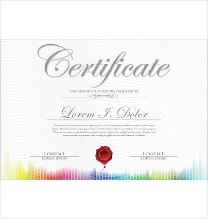 certificat diplome: Mod?le de certificat color?