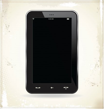 Smart Phone With Blank black Screen Isolated Vector