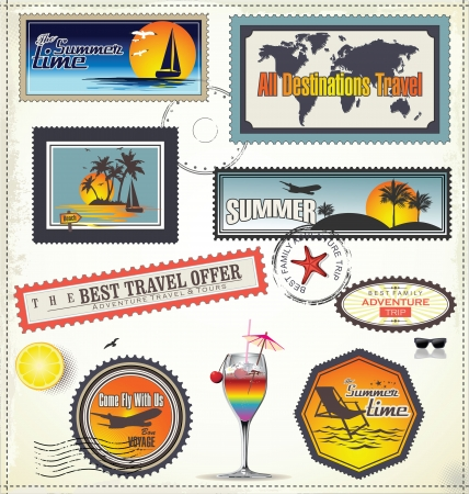 postage stamp: Travel post stamp