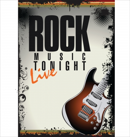 музыка: Рок-концерт плакат