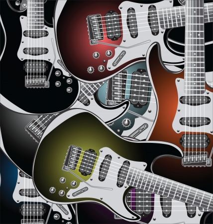 Electric guitars background Vector