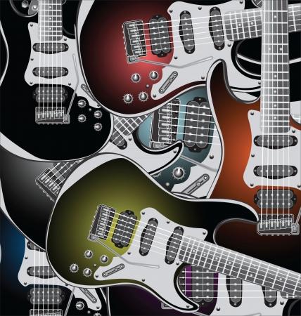 gitara: Gitary elektryczne tle