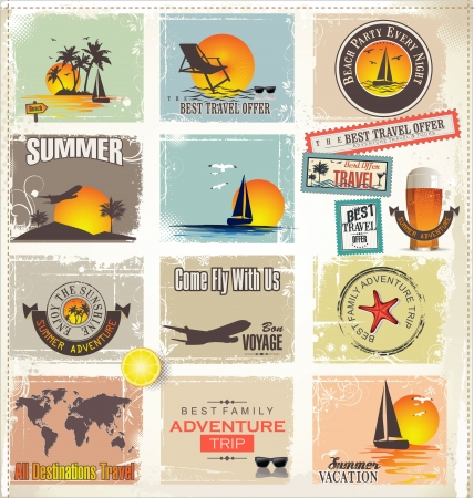 Travel design elements Vector