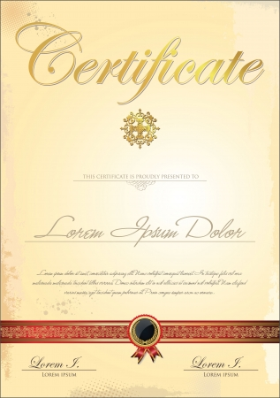 achieve: Certificate template Illustration