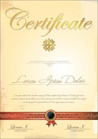 schriftrolle: Zertifikatvorlage