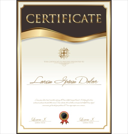 certificates: Certificate template Illustration