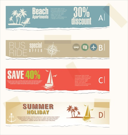 Summer banner set Vector