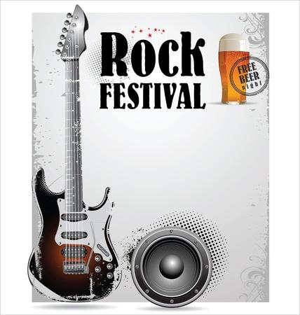 Rock concert poster Stock Vector - 21317333
