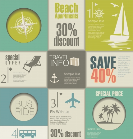 advertising design: Travel modern design elements Illustration