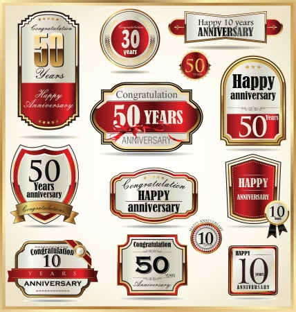 50 to 60: Anniversary labels