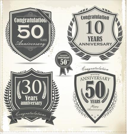 방패: 기념일 기호 컬렉션, 복고풍 디자인