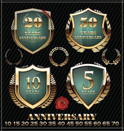 Anniversary golden label Stock Vector - 21723746
