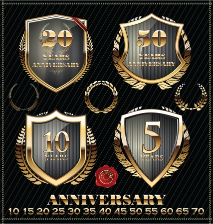60 70: Anniversary golden label