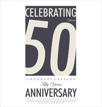 50 to 60: Anniversary background design