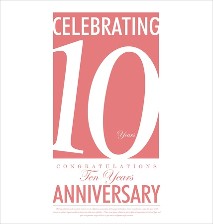 Anniversary background design Vector