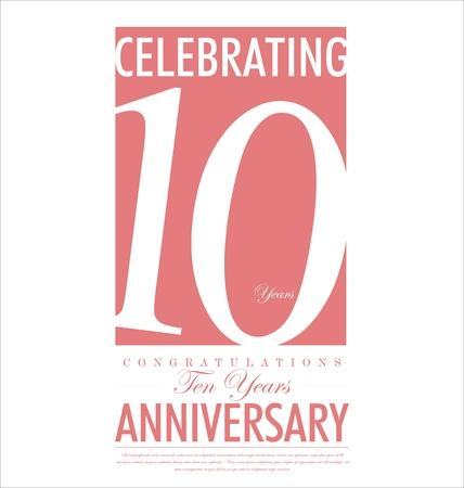10 years anniversary: Anniversary background design