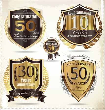 60 70: Anniversary golden shields