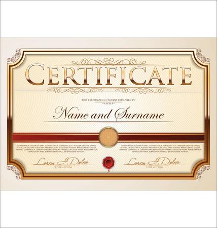 completion: Plantilla de certificado Vectores
