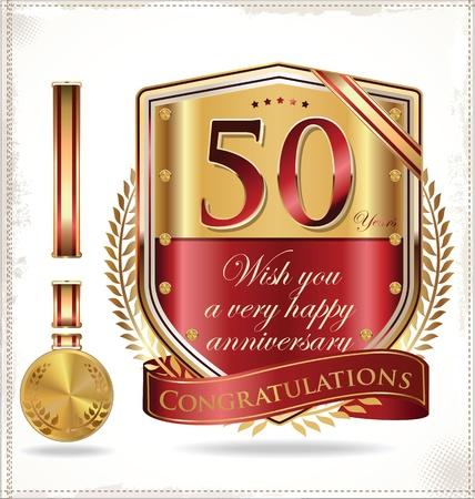 commemoration: Anniversary golden label