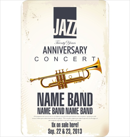 concert poster: Jazz background Illustration