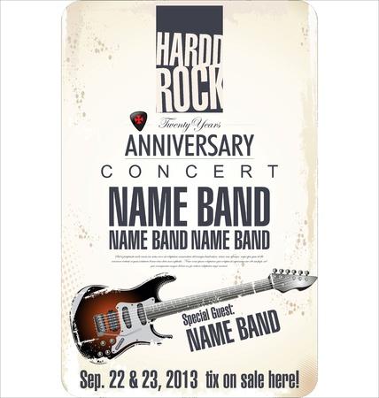 Rock concert poster Vetores