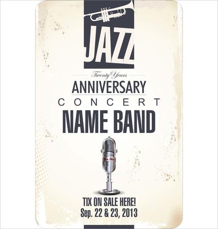 trumpet isolated: Jazz background Illustration