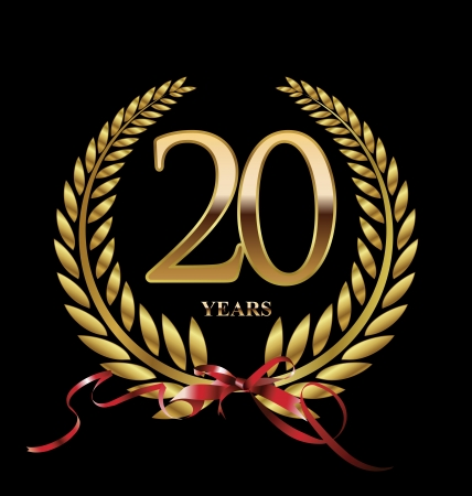 celebrating: 20 years Anniversary Golden label  Illustration