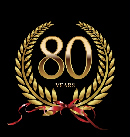 80 years Anniversary golden label