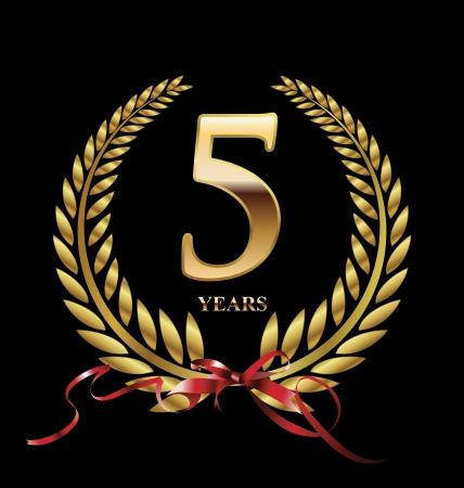 5 年間黄金周年復刻ラベル