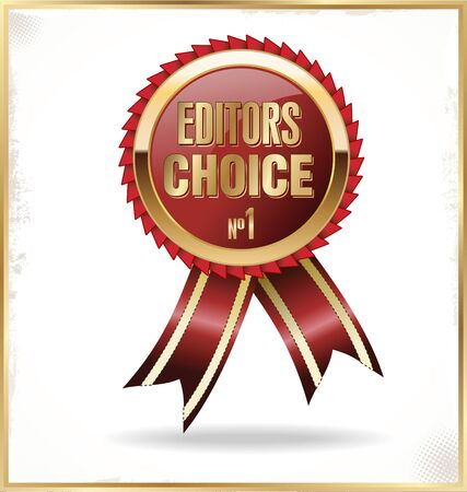 Editors choice red sign Vector
