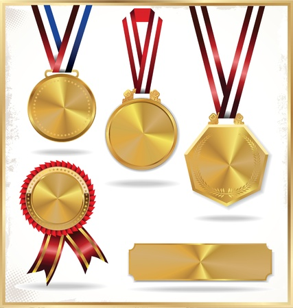 Gouden medailles Stock Illustratie
